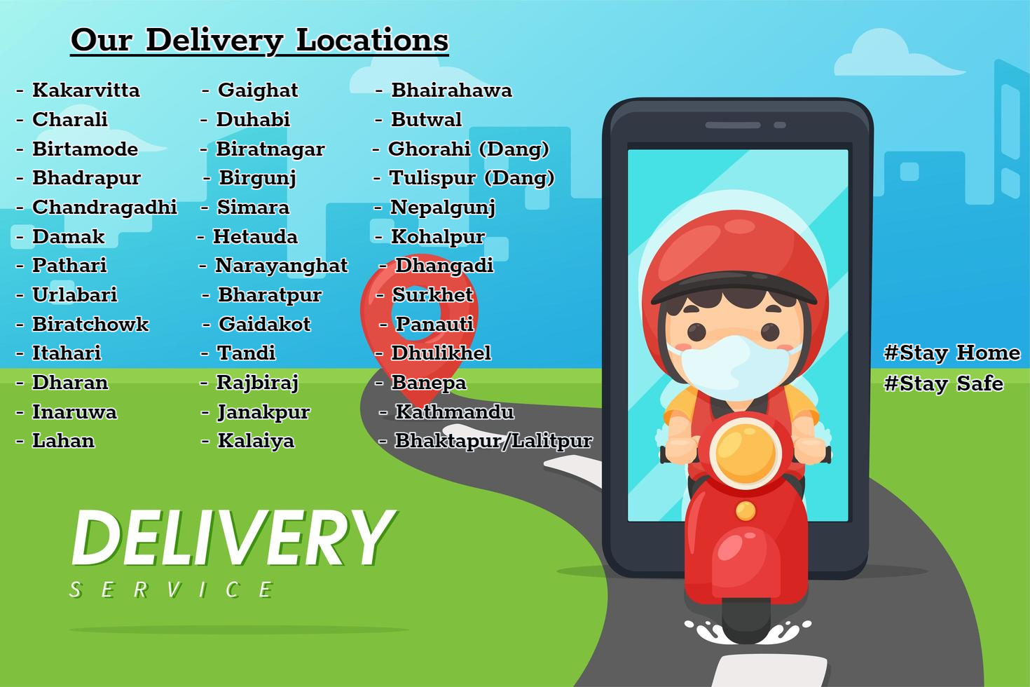 Our Delivery Locations